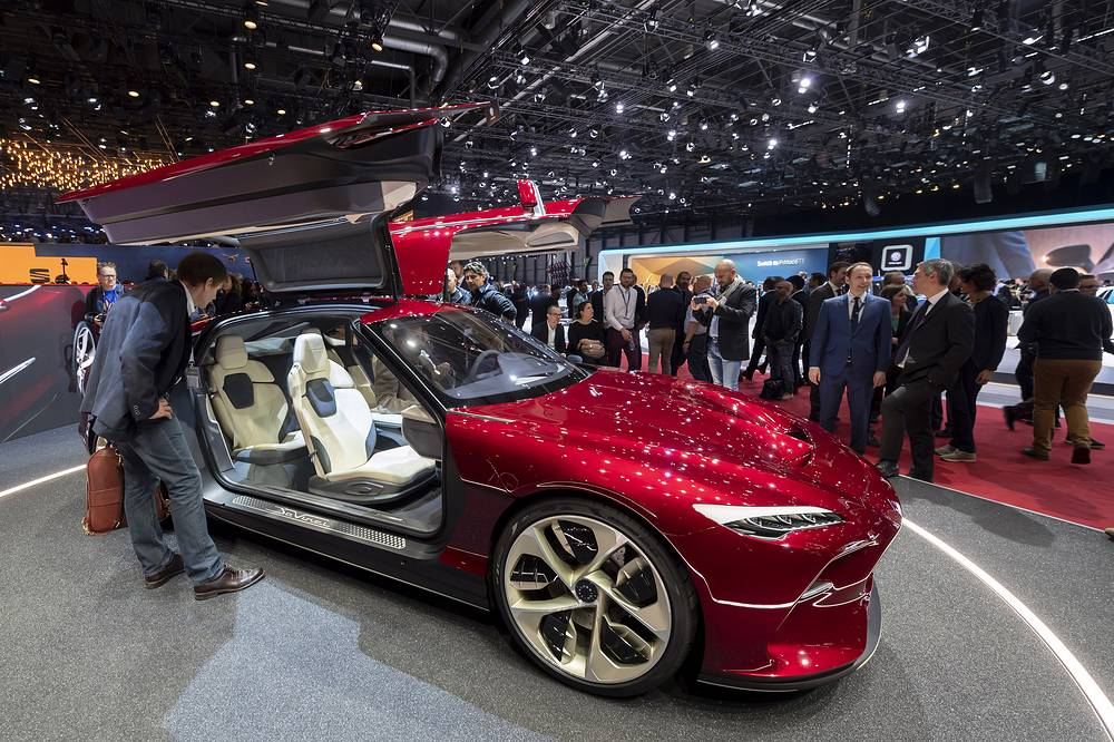 Italdesign Davinci is presented during the first media day at the 89th Geneva International Motor Show