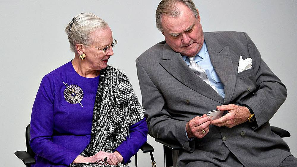 Queen of Denmark Margrethe II and prince Henrik