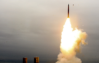 Air defence system S-300 being fired at a range in Astrakhan region in 2011 (archive)