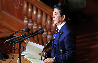 Abe laments his failure to achieve optimal results in talks with Russia
