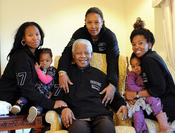 Nelson Mandela and his family