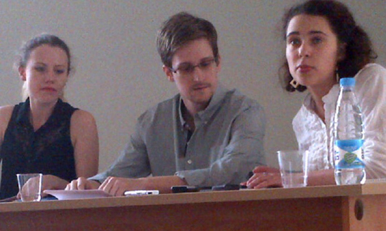 Former NSA contractor Edward Snowden met with activists in Sheremetyevo airport.