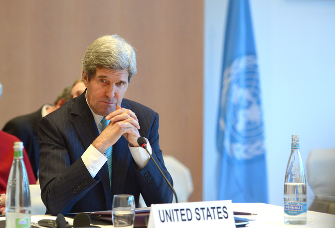 US Secretary of State John Kerry, during the opening of the so-called Geneva II peace talks in Montreux