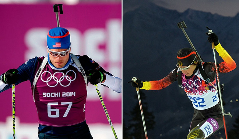 US biathlete Tim Burke is dating teh famous German biathlete Andrea Henkel