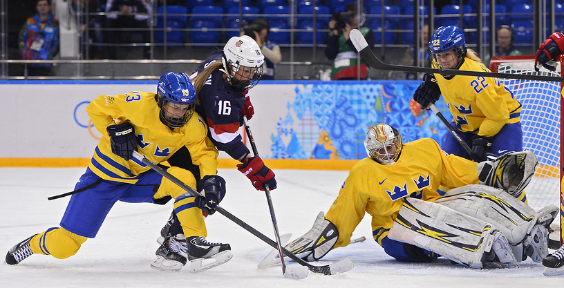 US ice hockey team beat Sweden in semi-finals