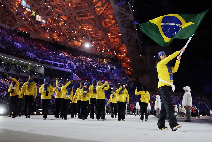 Brazil's team has the whole 13 athletes in seven events. It's the biggest Olympic team from Latin America