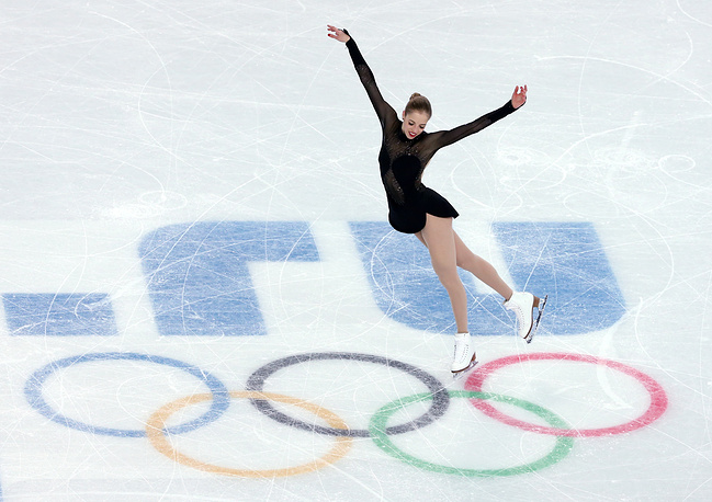 Carolina Kostner of Italy