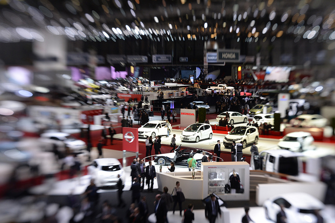 A general view of Honda's booth
