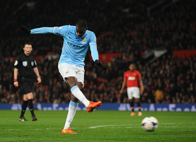 Yaya Toure scores the third goal
