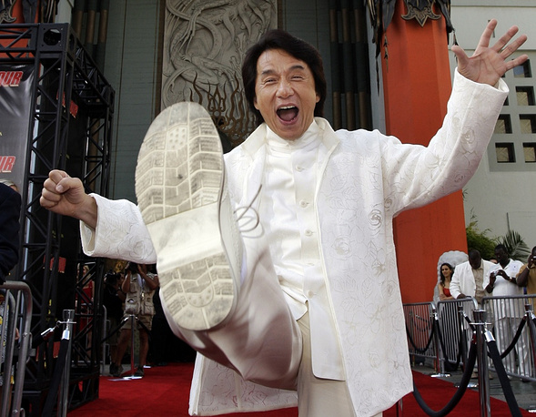 One of the most well-known films by Chan is the 'Rush Hour' sequel. Photo: Jackie Chan at the 'Rush Hour 3' first night in 2007