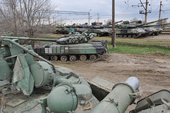 Redislocation of armaments and military hardware from Crimea to Ukraine