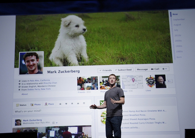 Zuckerberg's Facebook account is the fourth registered. The first three were test accounts