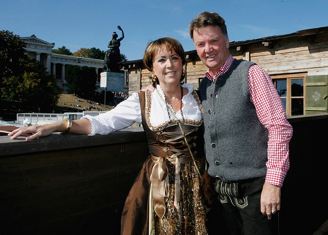 Louis van Gaal, right, and his wife Truus enjoy the Oktoberfest beer festival