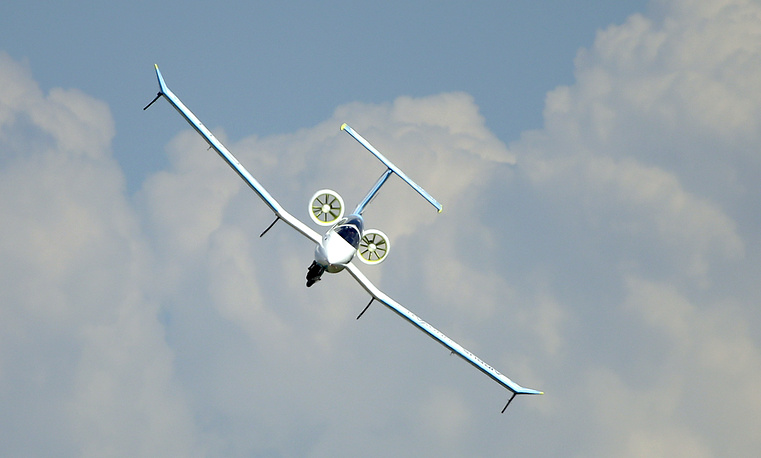An Airbus Group E-Fan electric aircraft