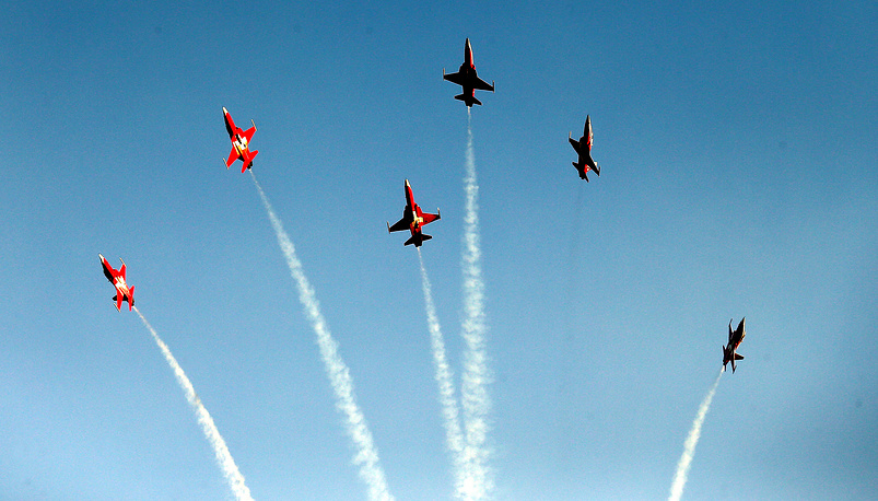 Performance by the pilots of the Swiss air force