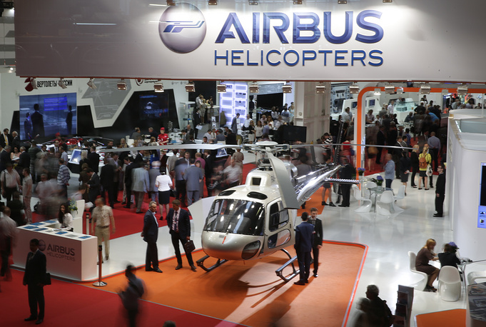 Airbus Helicopters stand at the exhibition