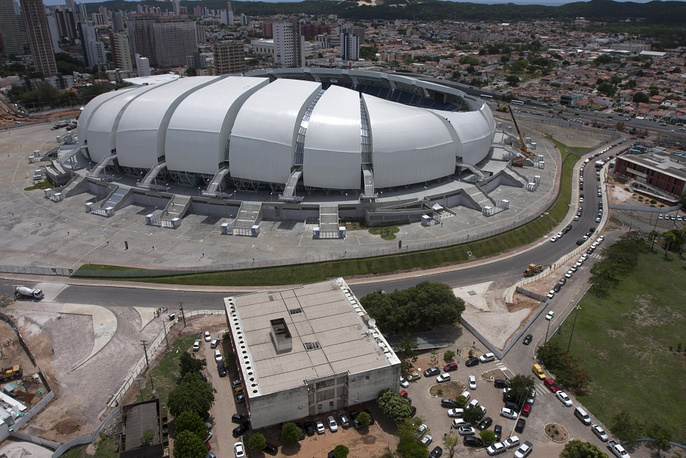 The Arena das Dunas in Natal has a capacity of 45,000 people and will host four matches of the group stage