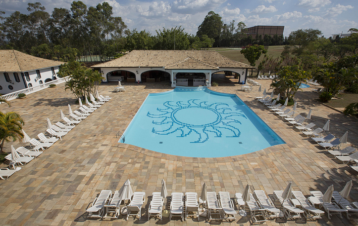 Swimming pool at the San Raphael Country Hotel, where Russia's 2014 World Cup team will stay during the World Cup in Itu, Brazil