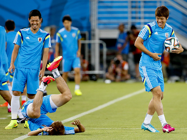 Japan national team training session