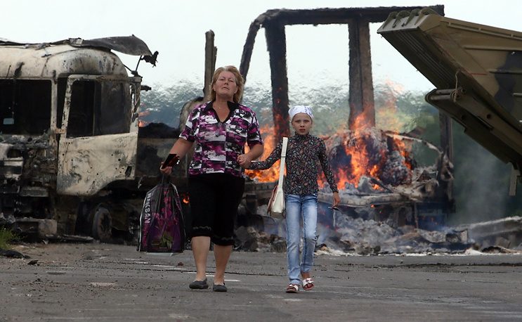 Refugees in Luhansk Region