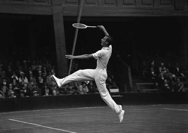 Fred Perry was world No. 1 in tennis in 1934-1936. He won the Wimbledon gentlemen's singles three times in a row
