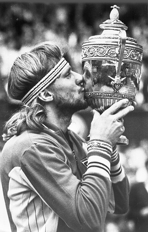 Bjorn Borg is a Swedish tennis player who won his Wimbledon title at 20 and then repeated the success four more times