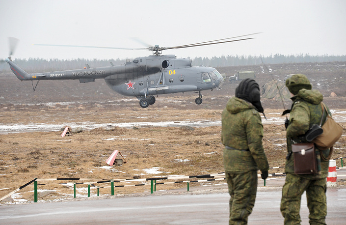 Military drills in the Western Military District, March 3, 2014