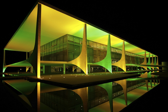 The official workplace of the President of Brazil - the Palacio do Planalto - can be visited on Sundays from 9:30 to 14:00 local time