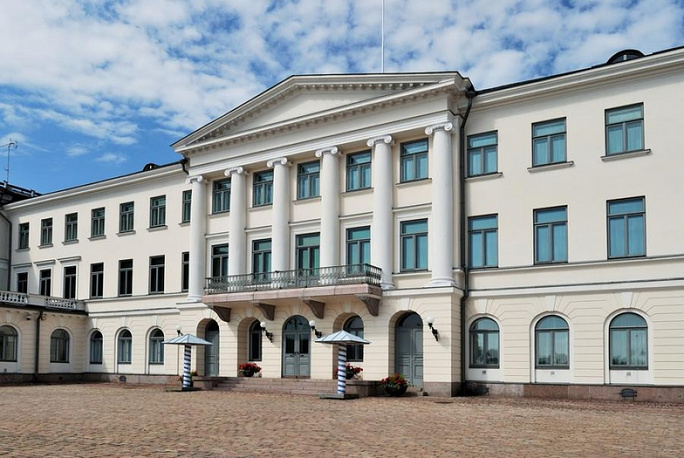 The presidential palace in Helsinki is now closed for reconstruction and can't be visited