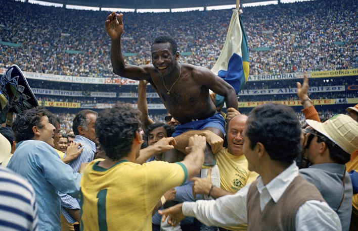 Brazil's Pele was not only the youngest ever to score a goal in a World Cup, he is the only player to have won three World Cup titles (1958, 1962, 1970)
