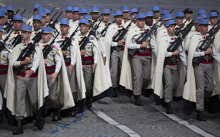 Troops from the French 1st Spahis Regiment