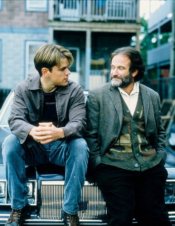 "Robin Williams and Matt Damon in ""Good Will Hunting"""