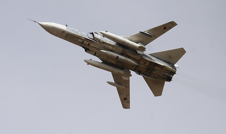 The Sukhoi Su-24  is a supersonic atack jet. The plane has a variable geometry wing with four sweep settings