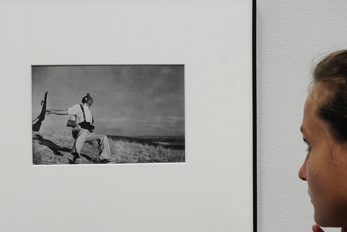 Robert Capa's 'Death of a Loyalist Militiaman' (photo, left) bacame a symbol of the civil war in Spain