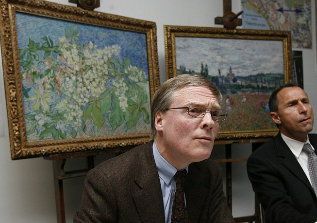 In February 2008 four masterpieces with an estimated value of $140 mln. were stolen from the G. E. Buehrle Collection museum. The stolen paintings were Claude Monet's 'Poppy Field at Vetheui', Edgar Degas' 'Count Lepic and His Daughters', Paul Cezanne's 'The boy in the red West', and Van Gogh's 'Blossoming Chestnut Branches.' Van Gogh's and Monet's paintings were later found