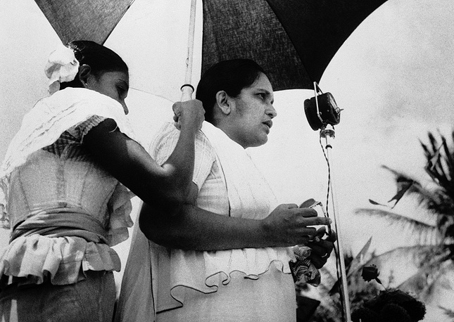 Sirimavo Bandaranaike is not only the world's first female head of government, but also the woman longest in power. She served as Sri Lanka's Prime Minister three times, making overall 18 years in power