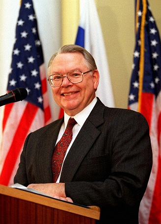 James Collins was the US ambassador to Russia in 1997-2001. He studied at Moscow State University in 1965-1966 and wrote a thesis on Russia Emperor Peter the Great. Collins said the development of Russian-US ties in all spheres from business to science was among the main achievements of his tenure. A total of 18 various American centers opened in Russia when Collins served as ambassador.