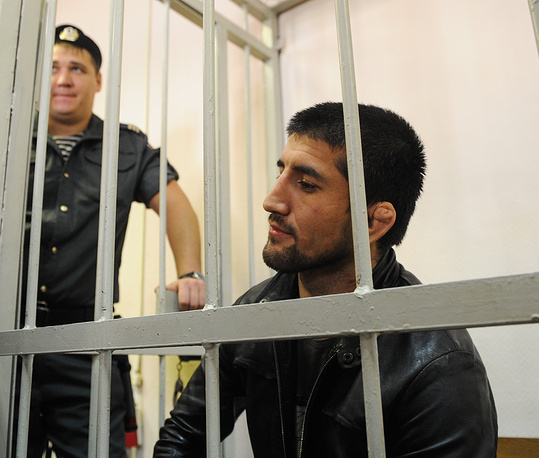 Photo: Mixed martial arts champion Rasul Mirzayev in the Zamoskvoretsky District Court, Moscow, September 17, 2012. Mirzayev was charged with assaulting 19-year-old student Ivan Agafonov over offensive remarks