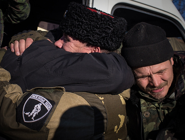 Prisoner swap between the Ukrainian government forces and militias was held on October 28, 2014