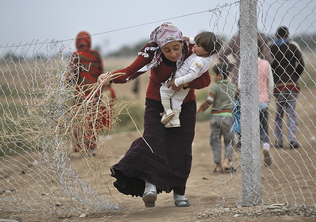 Photo: refugee camp in Suruc, near the Turkey-Syria border, Thursday, October 23, 2014