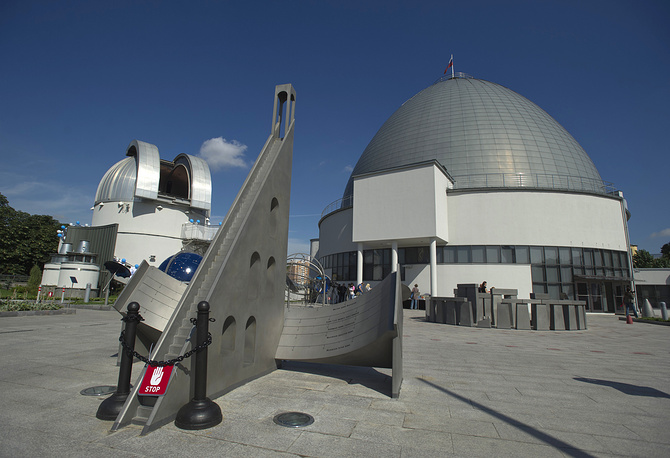 Photo: Park of the sky in front of the the Moscow planetarium's observatory