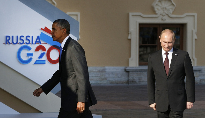 The next meeting of Vladimir Putin and Barack Obama took place in Strelna during the welcoming ceremony of G20 summit. As Putin said after talks with his US counterpart, they each remained of their own opinion. It was the last meeting between the two leaders before the Ukrainian crisis. Photo: G20 Summit in St. Petersburg, 2013