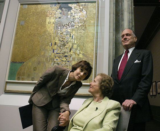 "In 2006 cosmetics magnate Ronald Lauder payed $135 million for Gustav Klimt's portrait of a Viennese lady from 1907 ""Adele Bloch-Bauer 1"""