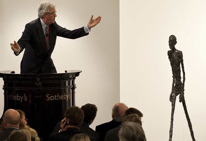 In 2010 Alberto Giacometti's sculpture 'Walking Man I' or 'L'Homme qui marche I' was sold at Sotheby's auction in London for the price of $104 million