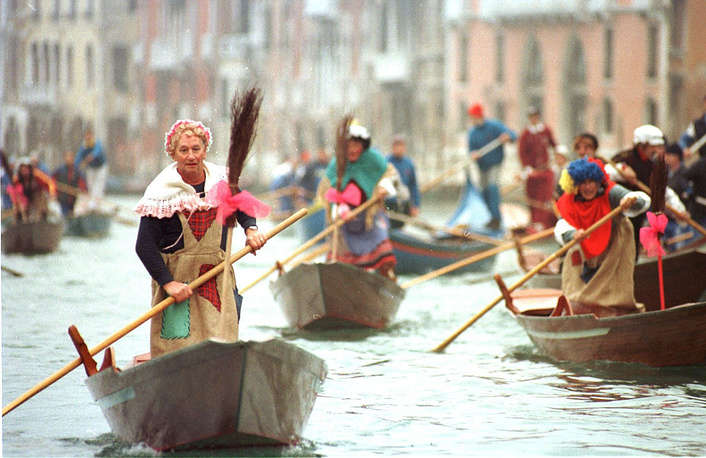 Befana from Italian folklore, is an old woman who delivers gifts to children throughout Italy on Epiphany Eve (the night of January 5) in a similar way to St Nicholas or Santa Claus