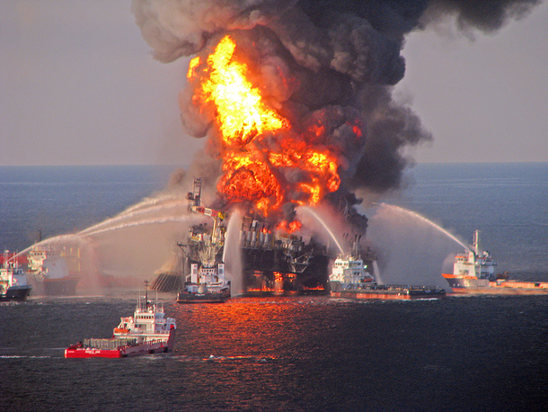 In April 2010 an estimate 5 million barrels of oil spewed into the Gulf from the underwater leak, following the explosion on BP's mobile offshore drilling rig