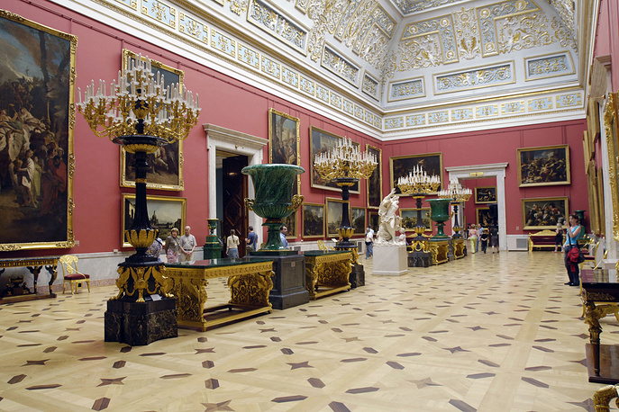 Its collections comprise over three million works of art and world culture artefacts, including the largest collection of paintings in the world