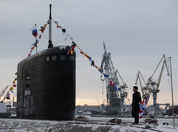 The second Project 636.3 diesel-electric submarine Rostov-on-Don designed for the Russian Black Sea Fleet was officially taken into naval service