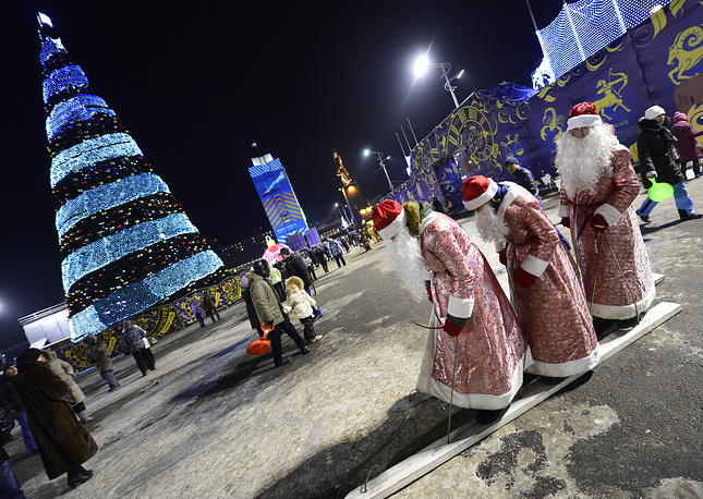New Year celebrations at Central Square, Vladivostok