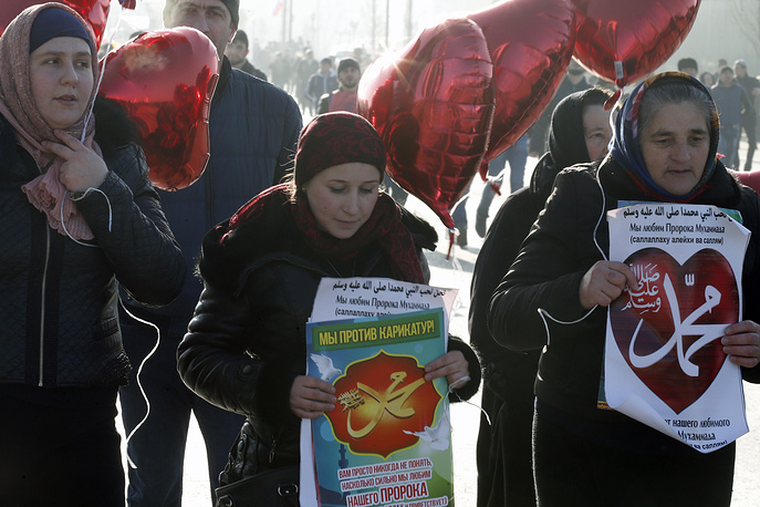 The event, called Love for the Prophet Mohammad, was organized at the initiative of Chechnya's religious leaders and is expected to draw over one million people
